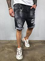 Мужские джинсовые шорты серые Black Island 5289-3412, фото 1