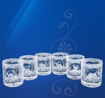 Набор стаканов хрустальных (6 шт / 400 мл) Julia Охота ST6340