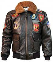 Кожаная летная куртка Top Gun Offical Signature Series Jacket TOPGUN (Brown)