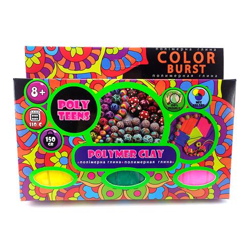 Набір полімерної глини для ліплення ТМ Poly Teens Color Burst *