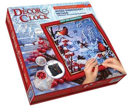 """Набір для творчості DANKO TOYS Decor Clock """"Снігурі"""" DC-01-03"""