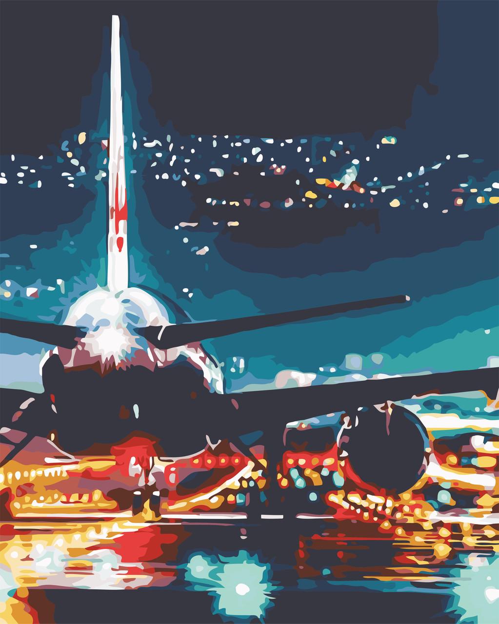 Картина по номерам Огни аэропорта ArtStory AS0587 40 х 50 см