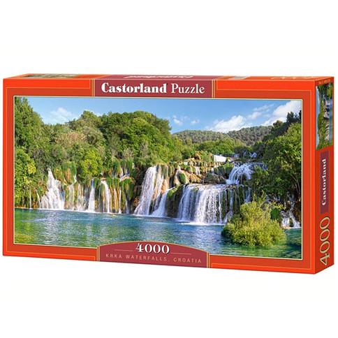 """Пазли 4000 елементів """"Водопад Крка Хорватія"""" арт. 400133, Castorland"""
