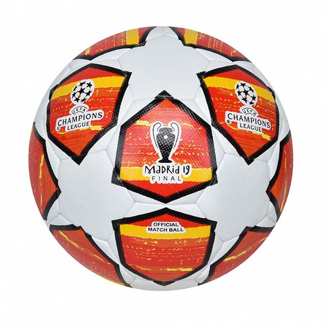 Мяч футбольный №5 PU HYDRO TECNOLOGY SHINE CHAMPIONS LEAGUE FINAL MADRID 2019