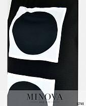 Длинное платье в пол летнее с рукавом черное из штапеля-льна размеры от 50 до 62, фото 3