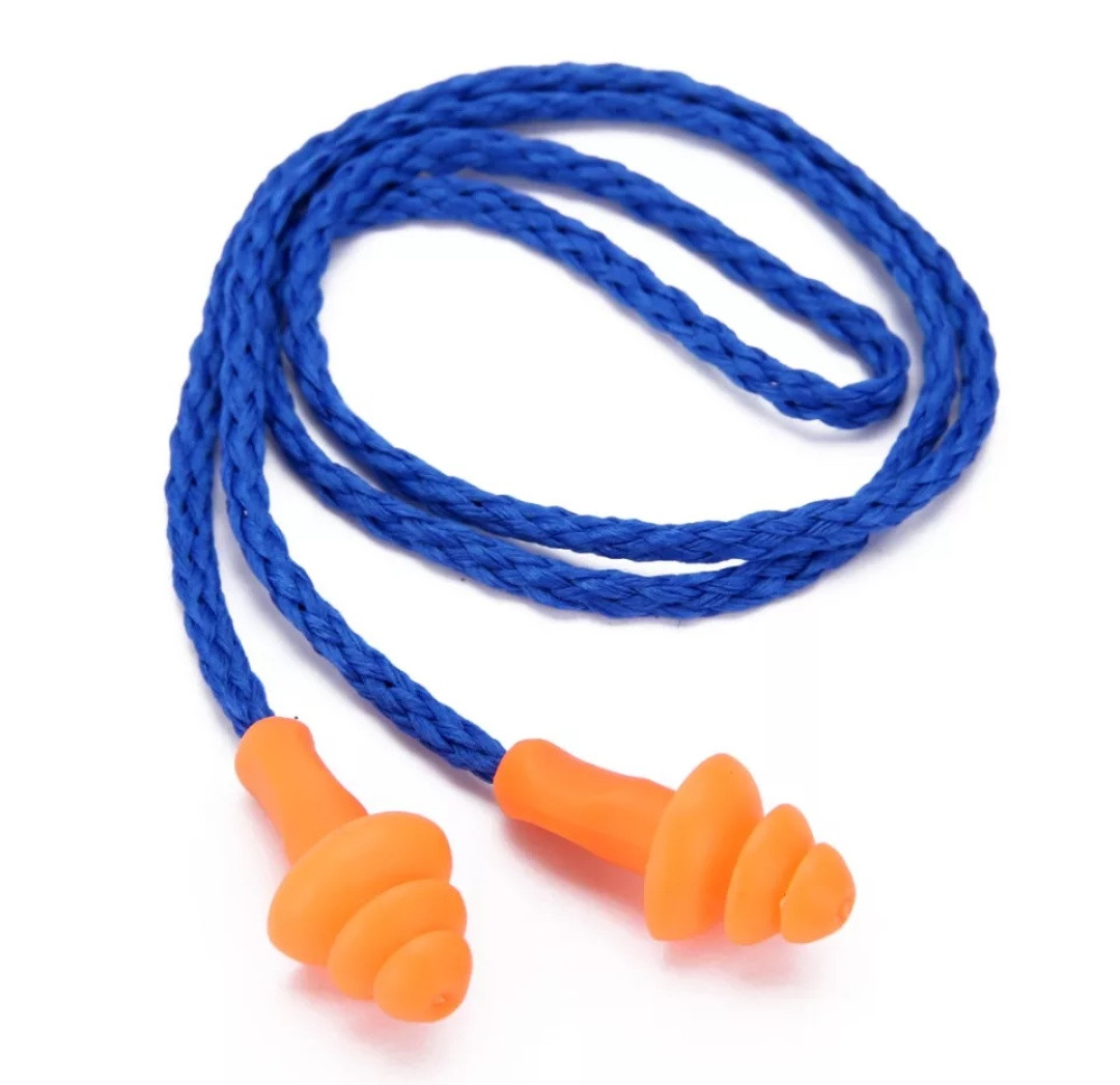 Беруши  силиконовые мягкие на веревке