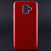 TPU чехол Epik Shine для Samsung Galaxy A6 (2018) (Красный)