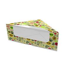 Картонная упаковка для сендвичей светлая