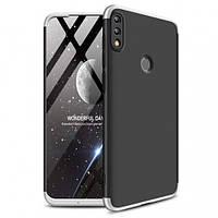 Пластиковая накладка GKK LikGus 360 градусов для Huawei Honor 10 Lite / P Smart (2019) Черный / Серебряный