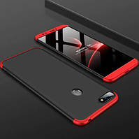 Пластиковая накладка GKK LikGus 360 градусов для Huawei Honor 7A Pro / Y6 Prime 2018 Черный / Красный