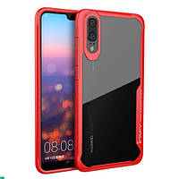 TPU+PC чехол iPaky Luckcool Series для Huawei P20 Красный