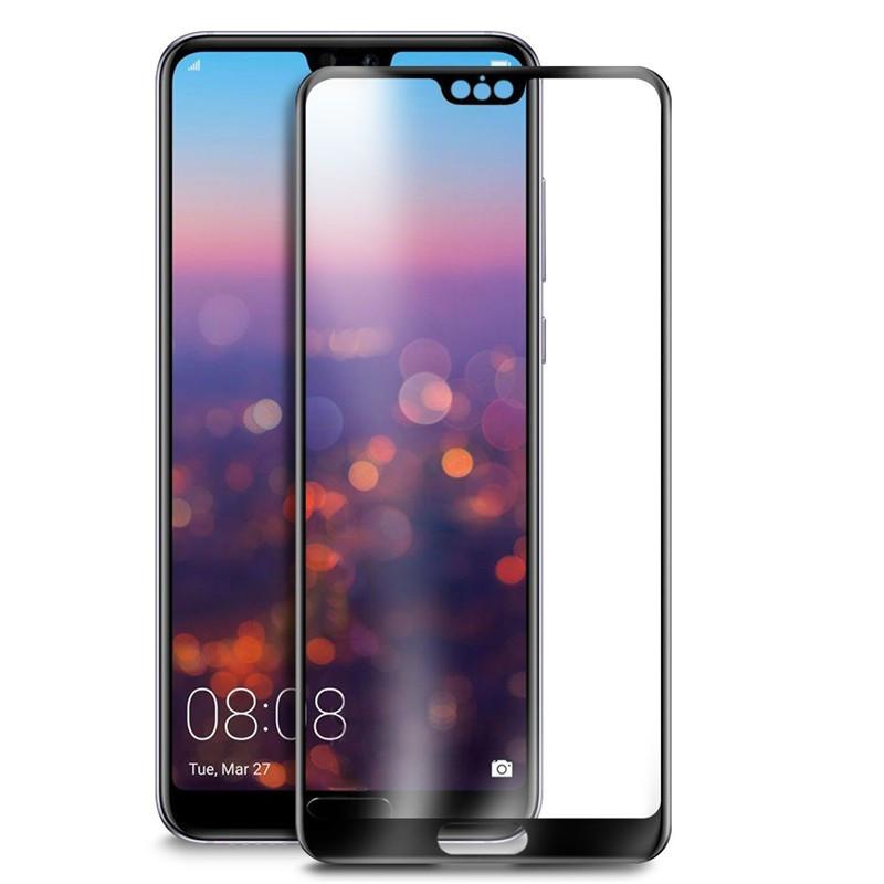 Защитное цветное 3D стекло Mocolo для Huawei P20 Черный