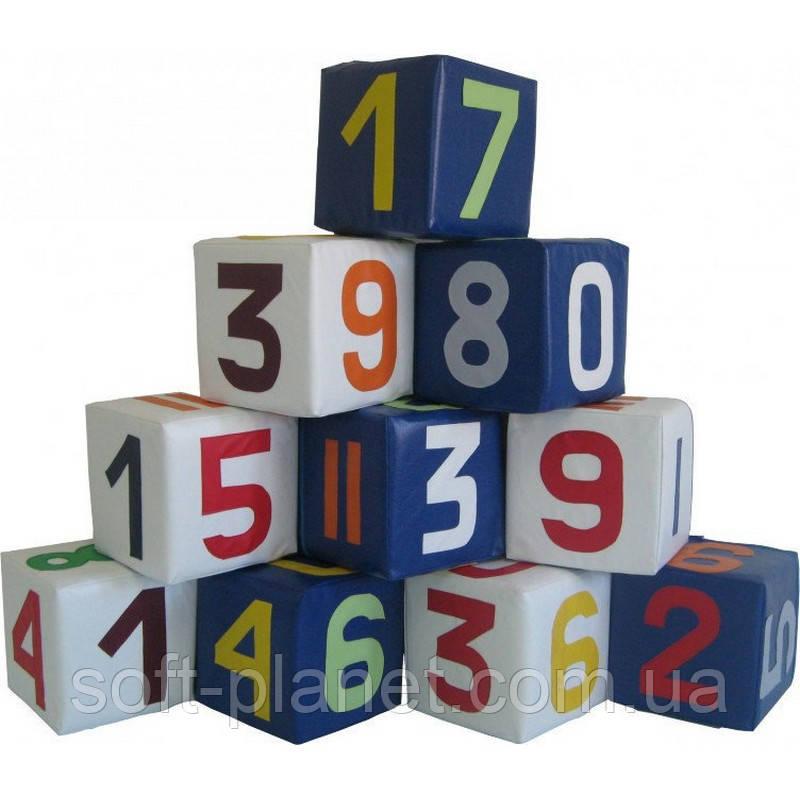 """Мягкий игровой модульный набор """"Цифры разноцветные"""""""