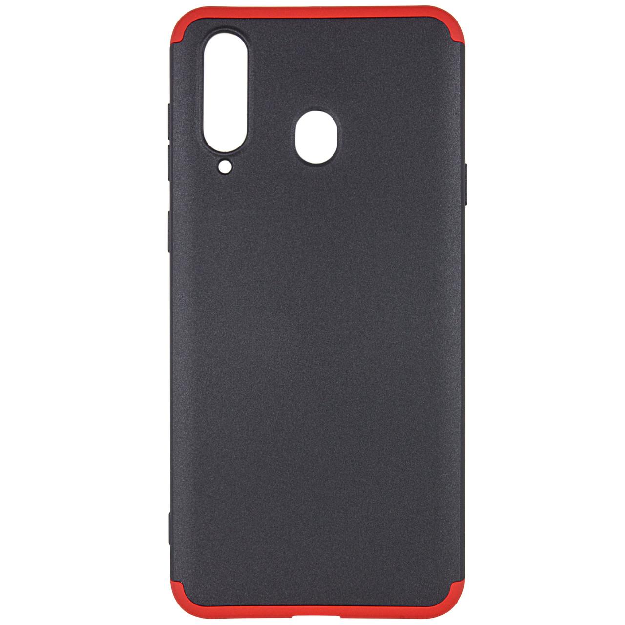 Пластиковая накладка GKK LikGus 360 градусов для Samsung Galaxy A8s Черный / Красный
