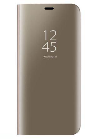Чехол-книжка Clear View Standing Cover для Samsung Galaxy M10 Золотой
