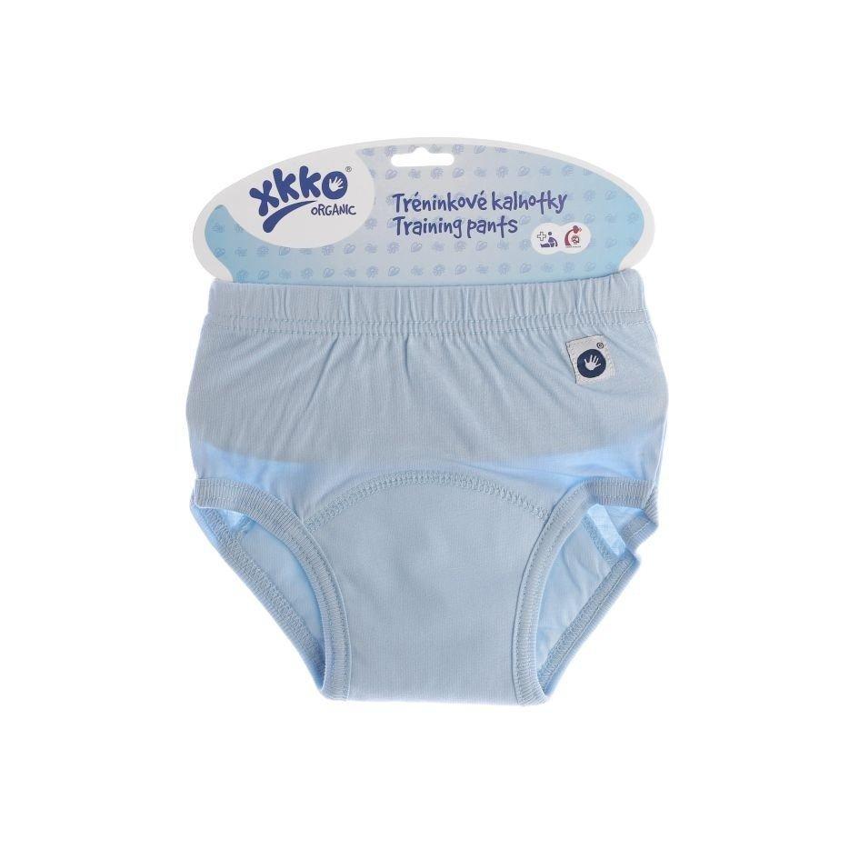 Трусы тренировочные детские голубые из натурального хлопка XKKO Organic