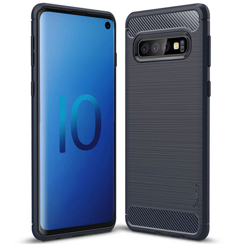 TPU чехол iPaky Slim Series для Samsung Galaxy S10+ Синий