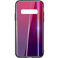 TPU+Glass чехол Gradient Aurora для Samsung Galaxy S10+ Малиновый