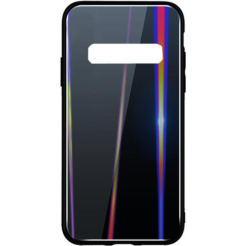 TPU+Glass чехол Gradient Aurora для Samsung Galaxy S10+ Черный