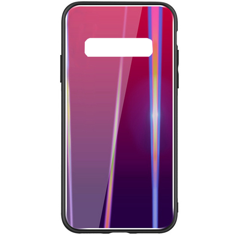 TPU+Glass чехол Gradient Aurora для Samsung Galaxy S10e Малиновый