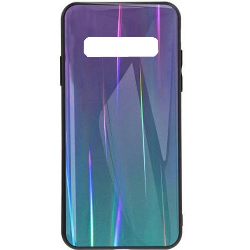 TPU+Glass чехол Gradient Aurora для Samsung Galaxy S10e Фиолетовый