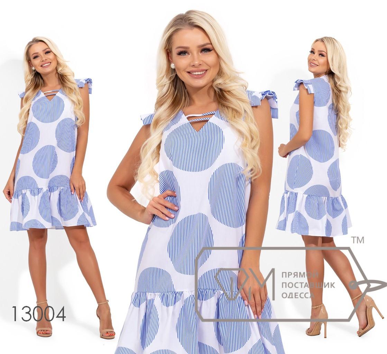 Платье в крупный принт 42-48