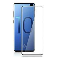Защитное цветное 3D 9H стекло Mocolo (full glue) для Samsung Galaxy S10e Черное