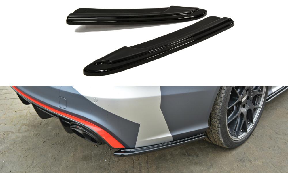 Боковые диффузоры заднего бампера юбка накладка тюнинг Audi RS6 C7