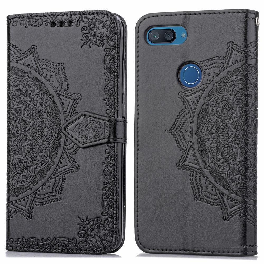 Кожаный чехол (книжка) Art Case с визитницей для Xiaomi Mi 8 Lite / Mi 8 Youth (Mi 8X) Черный