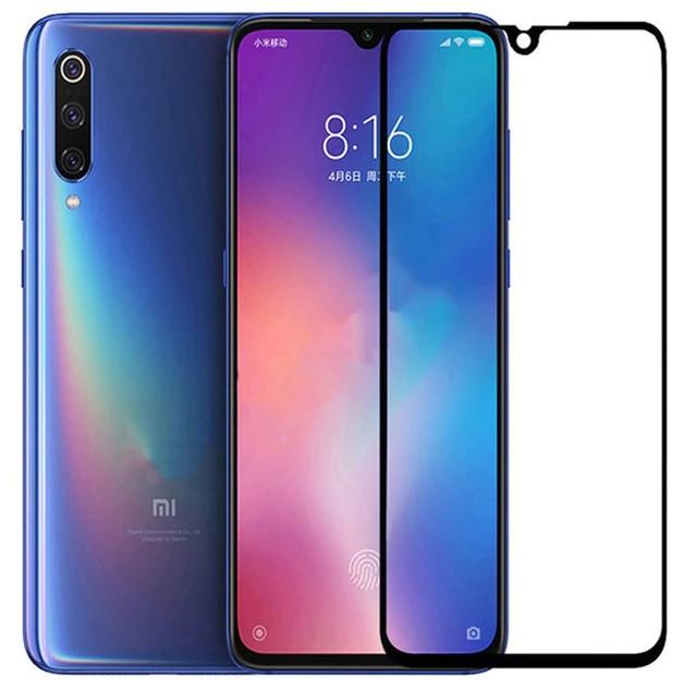 Защитное цветное 3D 9H стекло Mocolo (full glue) для Xiaomi Mi 9 / Mi CC9 Черное