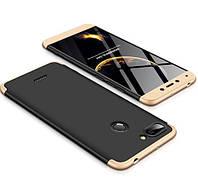 Пластиковая накладка GKK LikGus 360 градусов для Xiaomi Redmi 6 Черный / Золотой