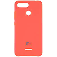 Чехол Silicone case для Xiaomi Redmi 6 Розовый / Living coral