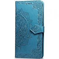 Кожаный чехол (книжка) Art Case с визитницей для Xiaomi Redmi Note 5 Pro / Note 5 (DC) Синий