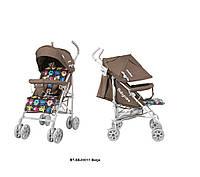 Детская прогулочная коляска-трость Babycare Walker Beige в льне, фото 1