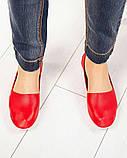 Мокасины женские кожаные красные, фото 3