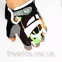 Вело перчатки беспалые Pearl Izumi (SPORT) зелено-оранжевые, фото 2