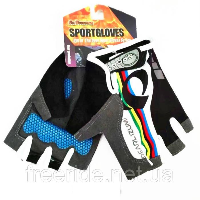 Вело перчатки беспалые Pearl Izumi (SPORT) разноцветные