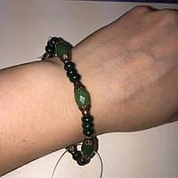 Нефрит браслет из камня нефрит. Нефритовый браслет Индия, фото 1