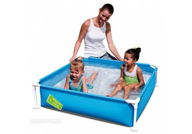 Детский каркасный бассейн Bestway 56217 «Мой первый каркасный бассейн» 122х122х30,5 см 365 л , фото 2
