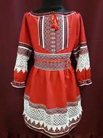 """Вышитое платье для девочки  """"Красный ажур"""""""
