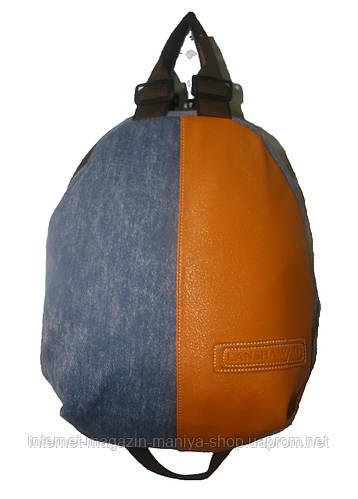 Женский рюкзак джинс-кожа