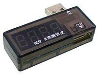 USB тестер AIDA A-3333 показывает напряжение и силу тока