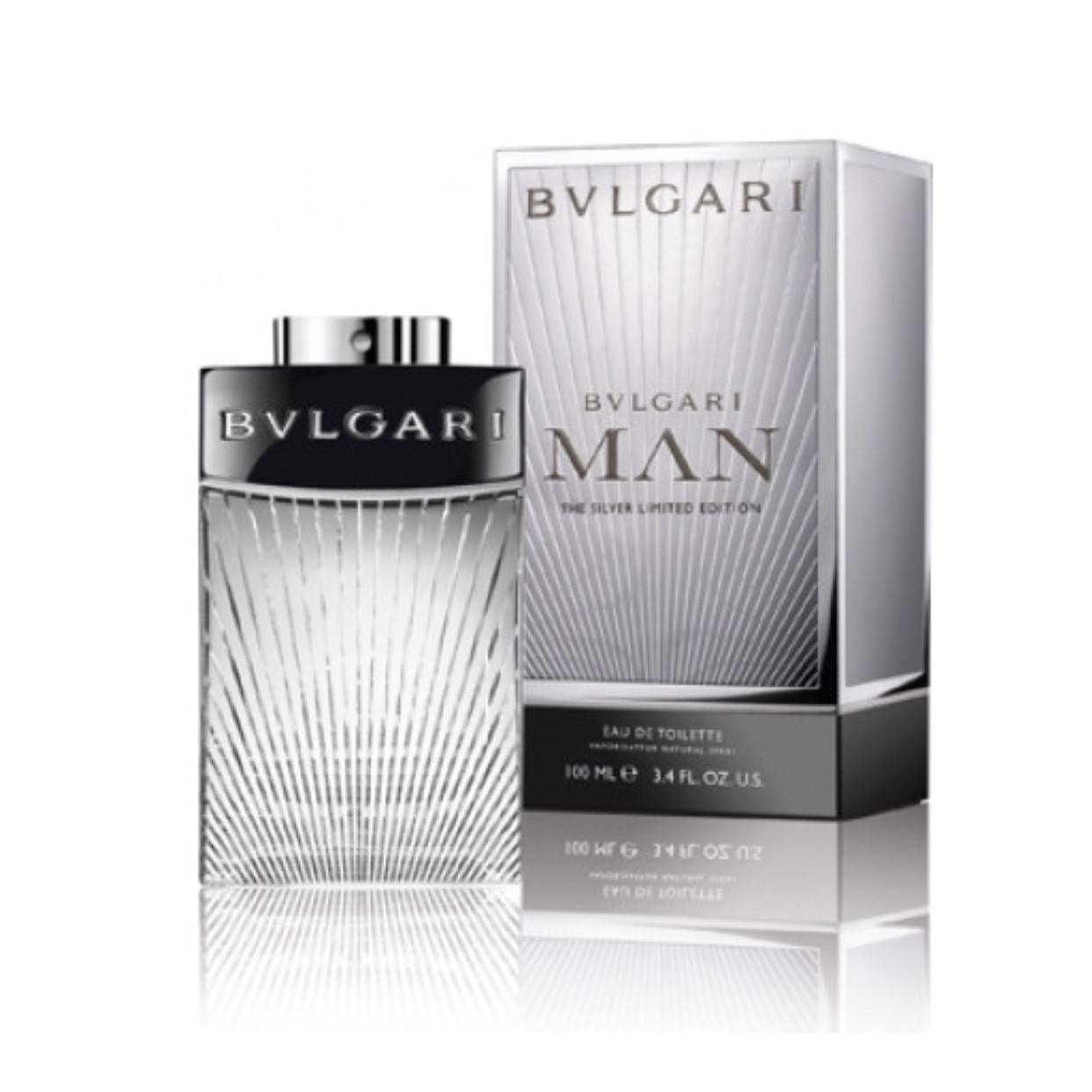 Туалетная вода BVLGARI Man The Silver Limited Edition 100ml, соблазнительный древесно-восточный аромат