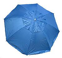 Пляжный зонт 1,6 м с наклоном, воздушный клапан, чехол, голубой, фото 1