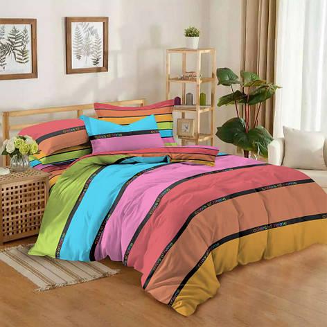 Двуспальный комплект постельного белья евро 200*220 сатин (12185) TM КРИСПОЛ Украина, фото 2