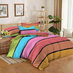 Двуспальный комплект постельного белья евро 200*220 сатин (12185) TM КРИСПОЛ Украина