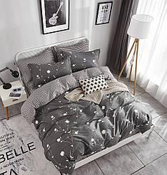 Семейный комплект постельного белья сатин (12194) TM КРИСПОЛ Украина
