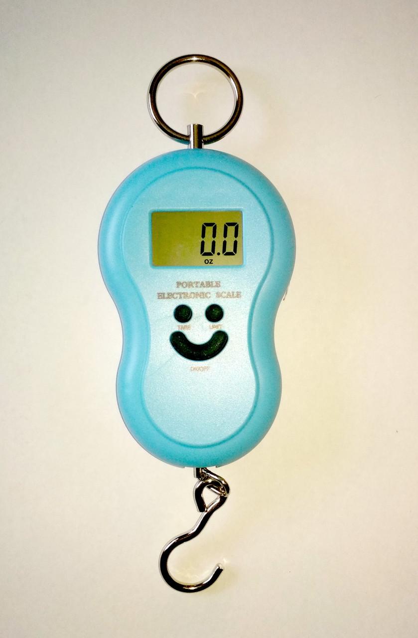 Кантер, електронні ваги 0-50 кг, колір синій