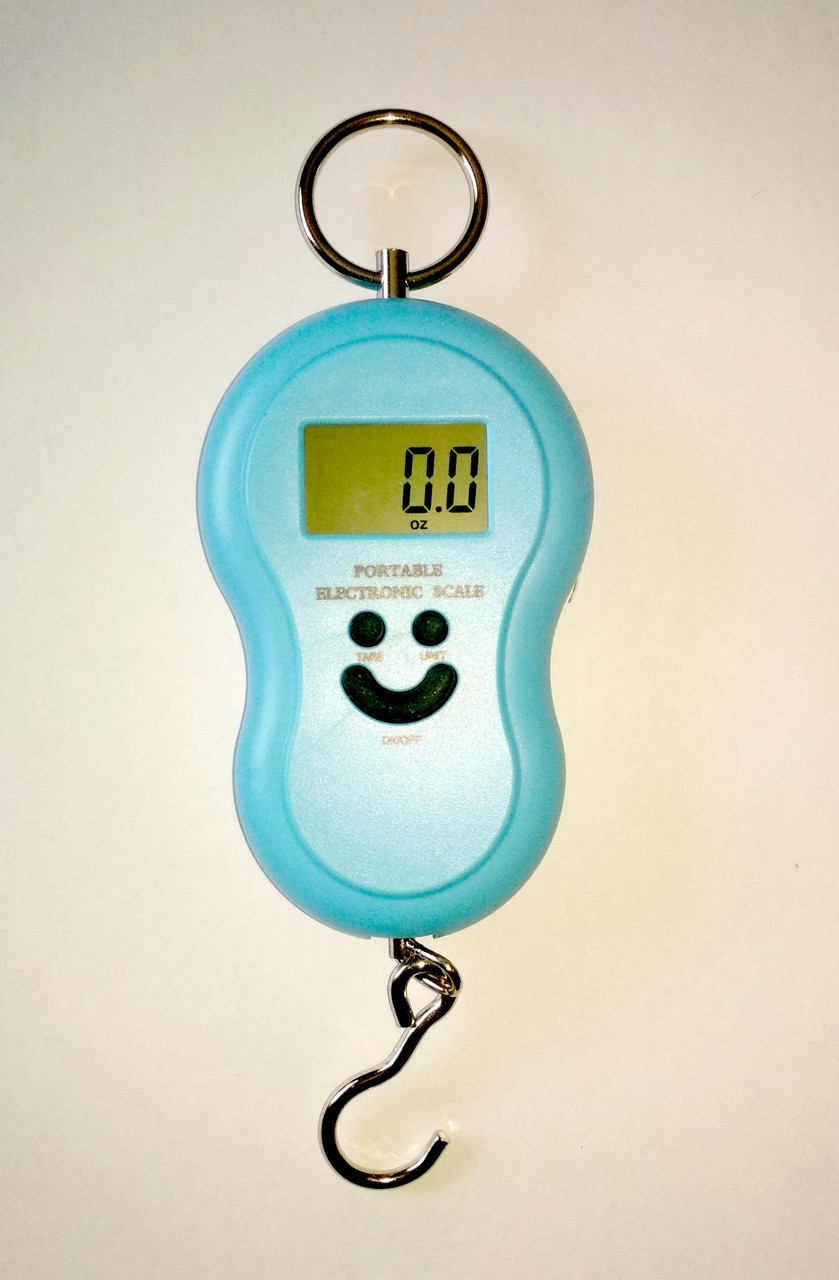 Кантер, электронные весы 0-50 кг, цвет синий