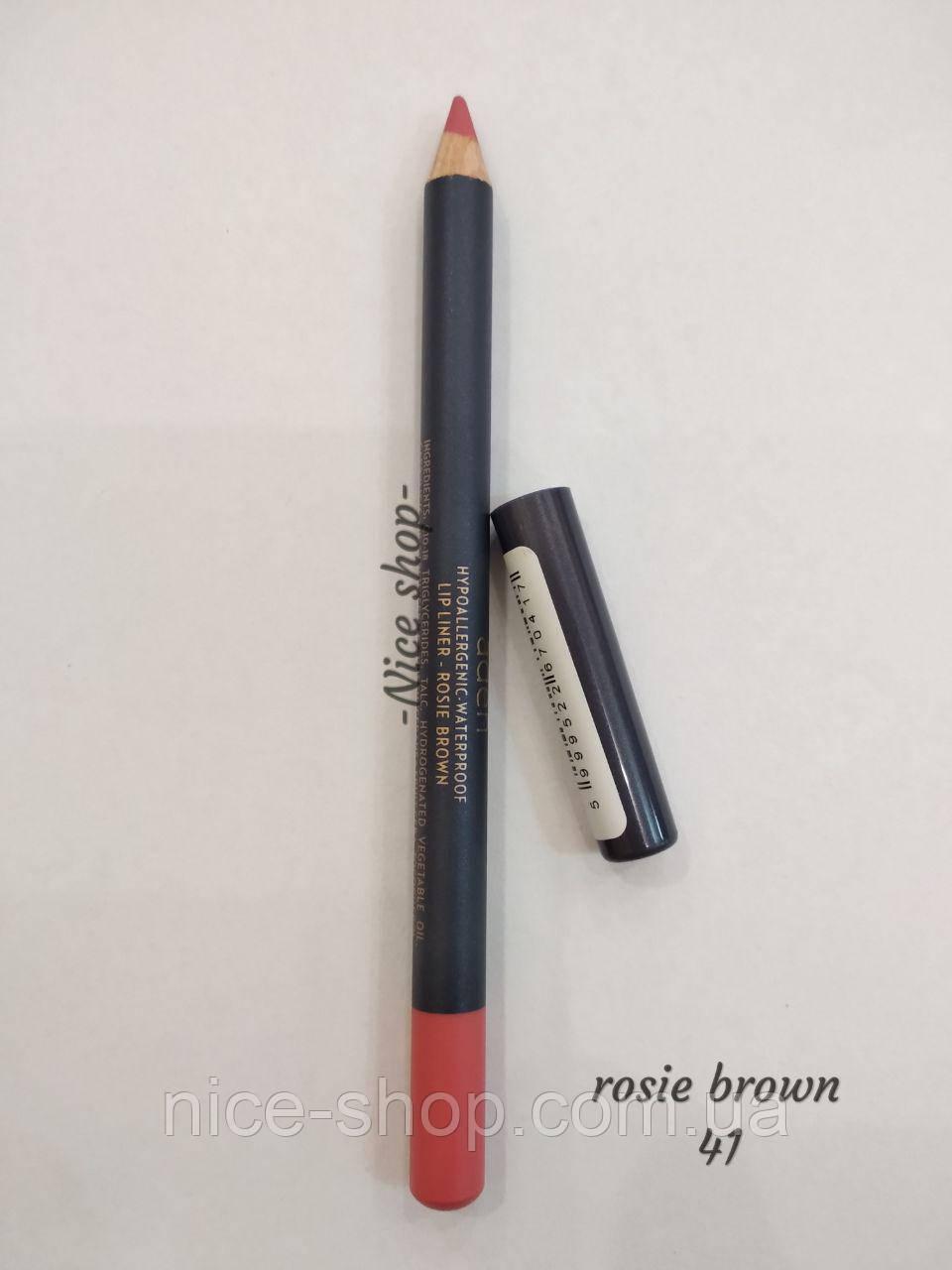 Карандаш для губ Rosie brown Lipliner Aden № 41